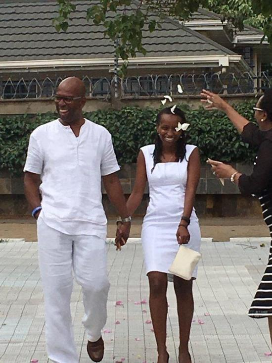 Photos - Safaricom boss Bob Collymore marries Wambui Kamiru