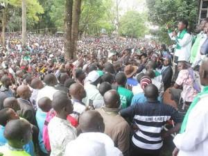 Raila Skips Wetangula Presidential launch at Muliro Gardens Kakamega