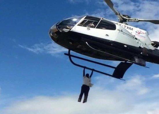Bungoma Man Falls off from Flying Chopper