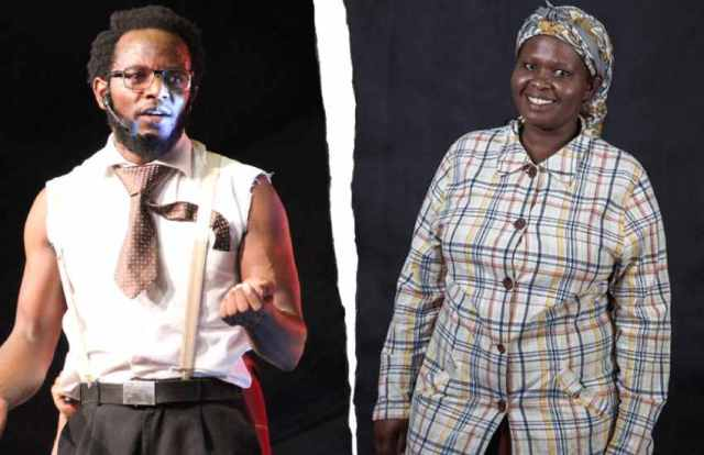 Comedian Jemutai strikes lover Prof Hamo, strips him naked , exposes secrets