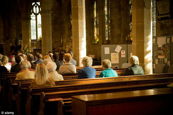 Dwindling: The number of Christians in Britain has fallen by 4.1 million in the past decade