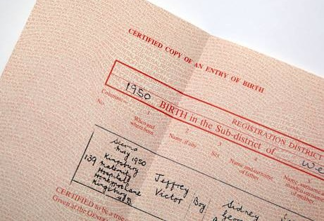 Birth Certificate as we know it