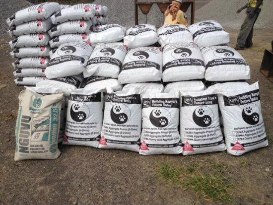 Duma Ballast in 50kg packs ready for market