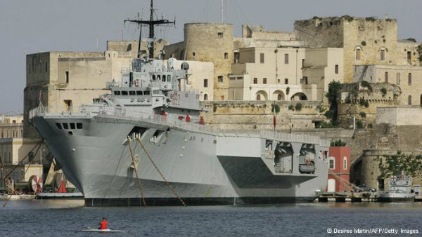 Frontex patrol boat off the coast of Tenerife