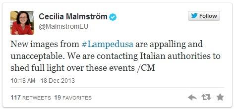 Cecilia Malmström's tweet