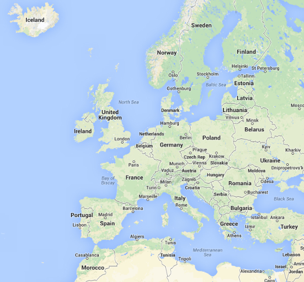 European countries by name