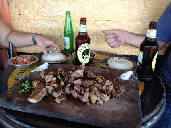Nyama choma and Tusker beer