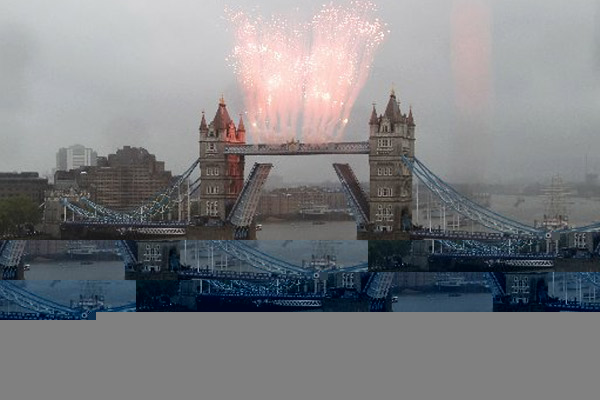 Fireworks explode over Tower Bridge during the Thames Diamond Jubilee Pageant on the River Thames in London on June 3 2012. In his blog post, Biko says all he ever wanted to see in England was the River Thames. PHOTO | AFP