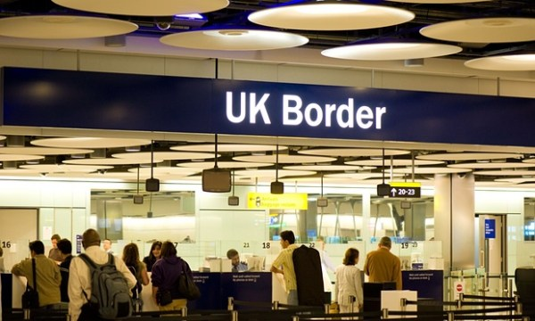 UK Border control at Terminal 5 Heathrow Airport London United Kingdom. Photograph: Gregory Wrona / Alamy/Alamy