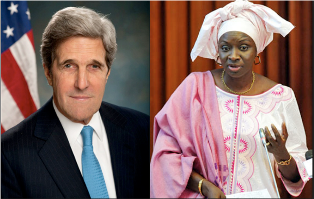 John Kerry & Aminata Toure