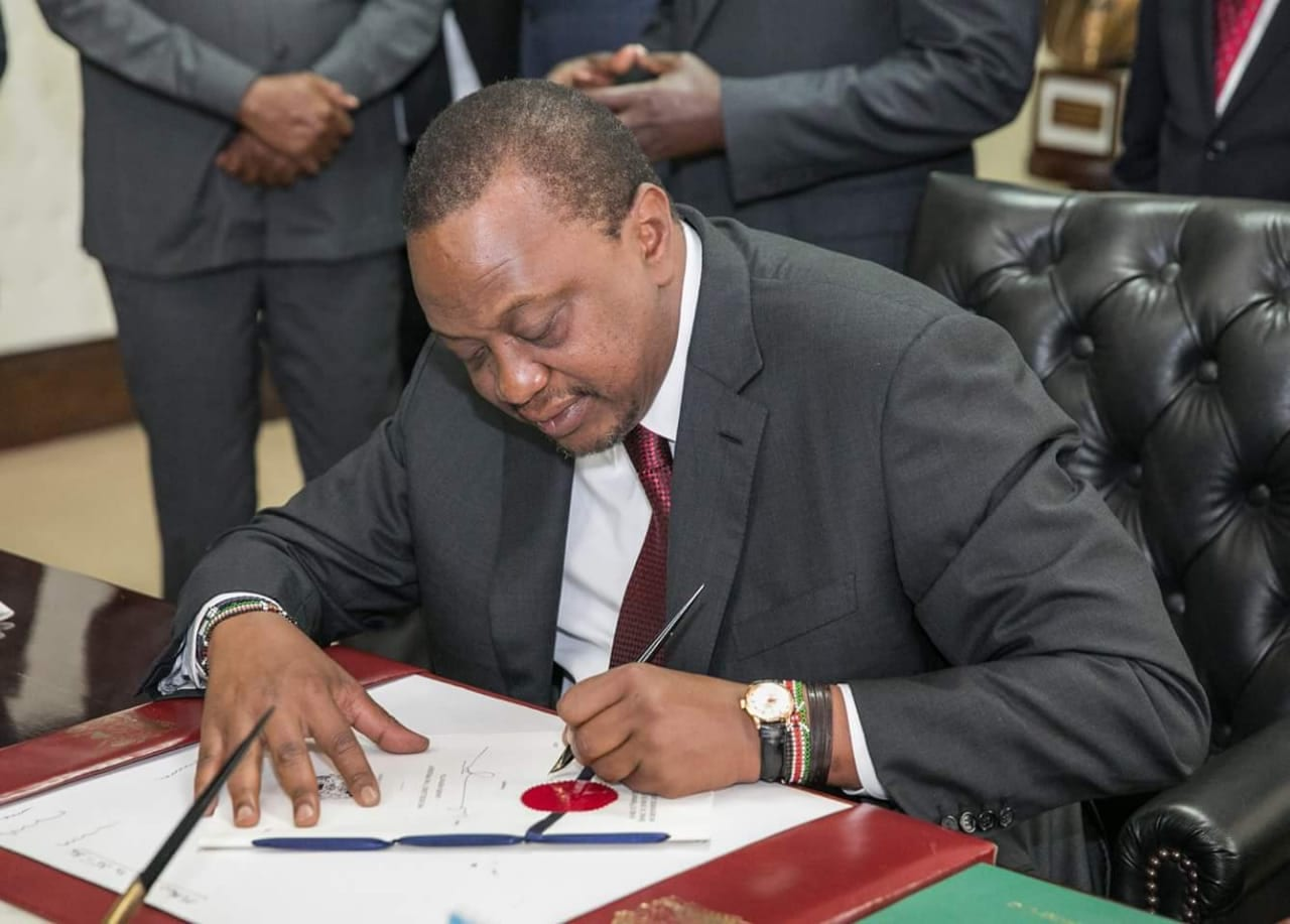 President Uhuru Assents Finance Bill 2020 - Kenyan Wallstreet