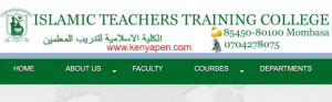 Islamic Teachers Training College Mombasa Fees Structure