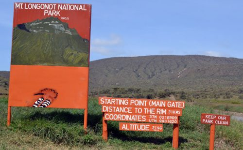 Game viewing in Mount Longonot National Park