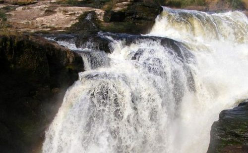 Hiking to the Top of the Falls in Murchison Falls National Park Uganda
