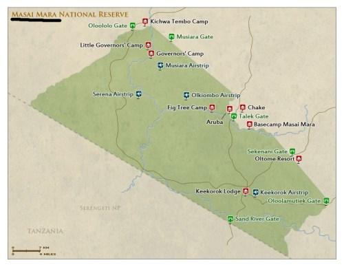 Maasai Mara Map