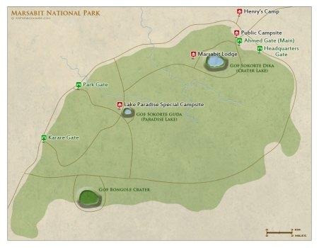 Marsabit National Park Map
