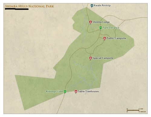 Shimba Hills National Reserve map