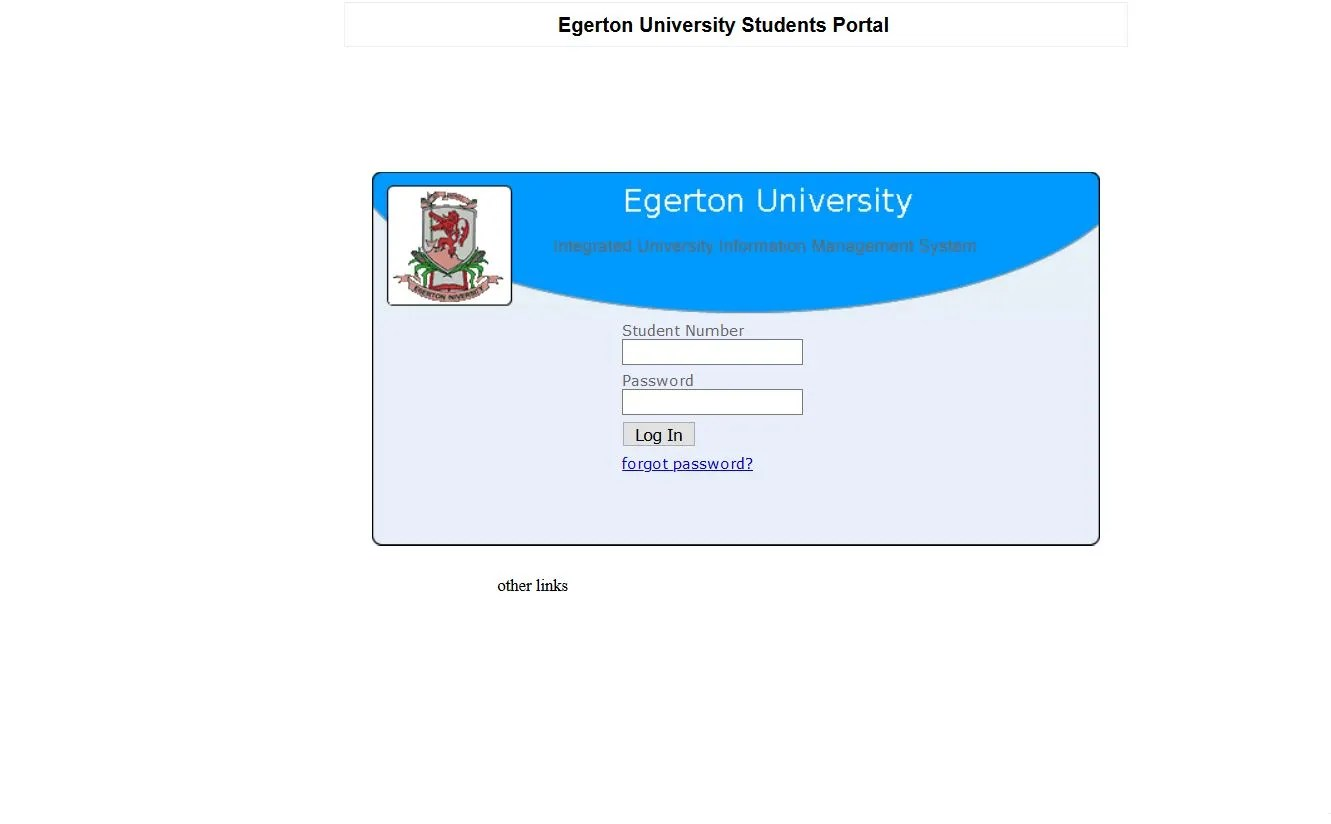 Egerton university online Hostel room booking procedure