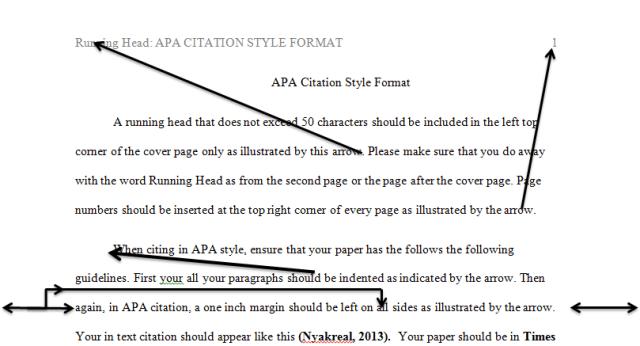Apa citation style example