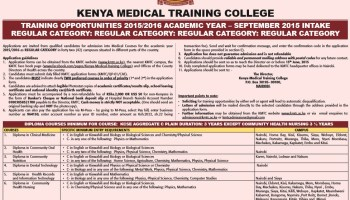 Courses offered at the Kenya medical training college (KMTC) | Kenyayote