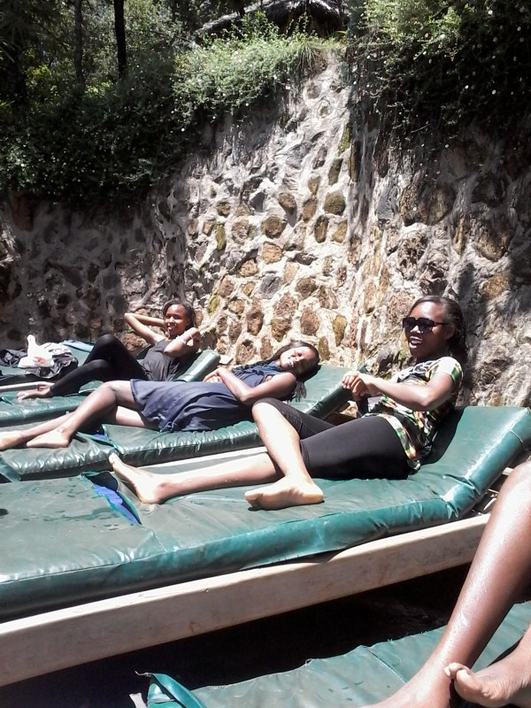 Picture of my friends and I  relaxing at Naiberi Camp in Eldoret. This is one of the best places I have been to in my life. Entrance fee is ksh. 200. There is a classic swimming pool, play ground, camping site and lots. When  the Microsoft founder Bill Gates toured Eldoret he spent time in  this place.