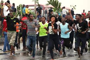 students demonstrate over mismanagement