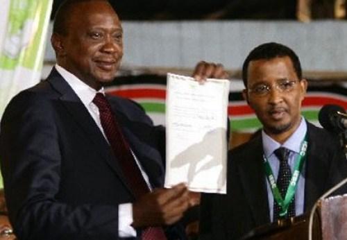 president uhuru kenyatta declared president 2013 10