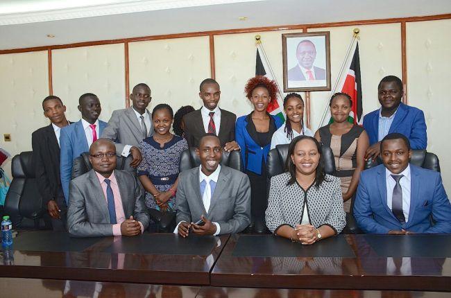 CS Anne Waiguru with student leaders