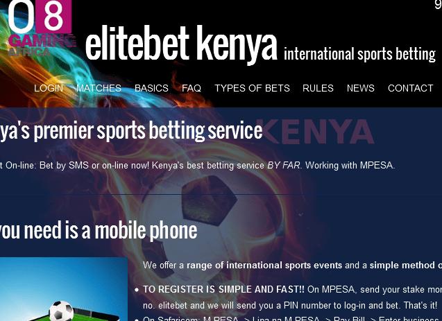 Kenya sport betting elitebet sky betting and gaming contact number