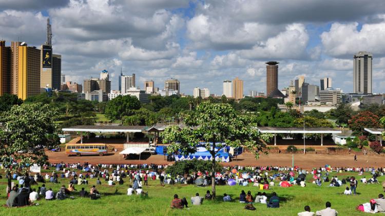 Nairobi City View from Uhuru Park, Kenya