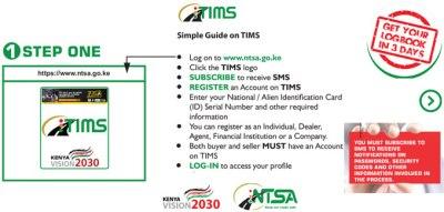 NTSA Kenya tims registration procedure