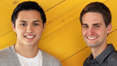Snapchat Founders Evan Spiegel and Bobby Murphy early stages in Campus