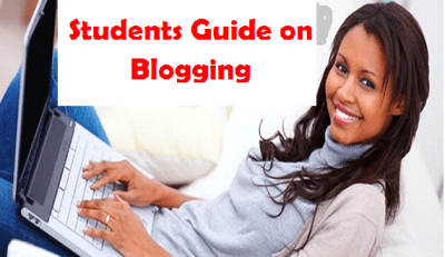 students blogging making money online from website