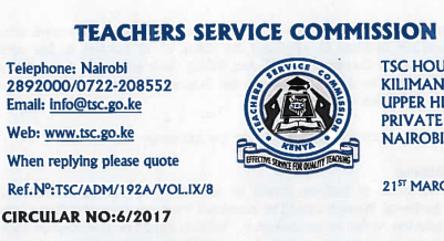 TSC, teachers jobs for national and extra county schools