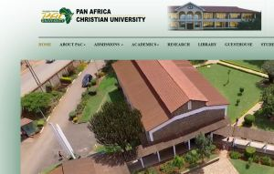 pan africa christian university admission letter
