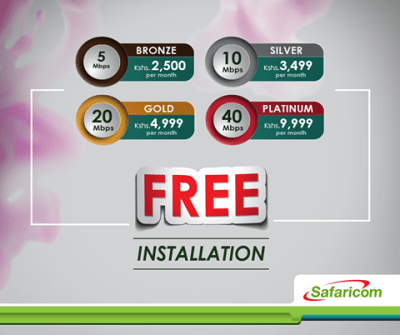 Fibre to Home Safaricom Unlimited Internet Data Bundles, how to buy