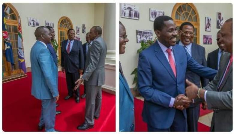President Uhuru receives former Meru Governor Peter Munya at State House
