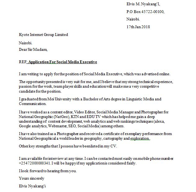 sample cover letter and how to write a job application cover letters