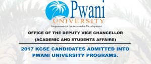 pwani university first year opening dates and admission letters