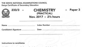 tips on how to pass KCSE chemistry exams, pdf past papers and chem practical