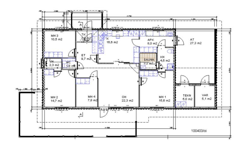 Sample of a House floor plan