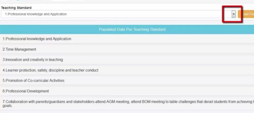 filling TSC TPAD professional knowledge and application form page