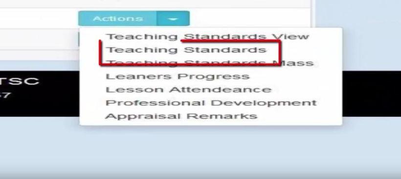 Filling TSC TPAD teaching standards