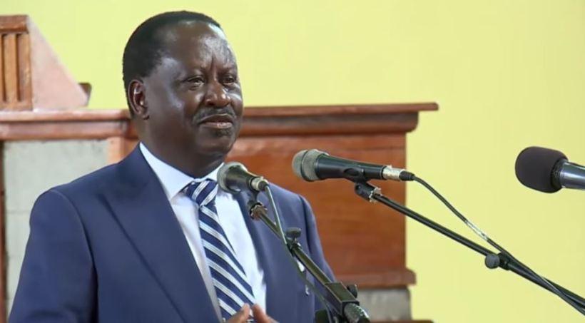 Latest updates of Raila Odinga Video speech today