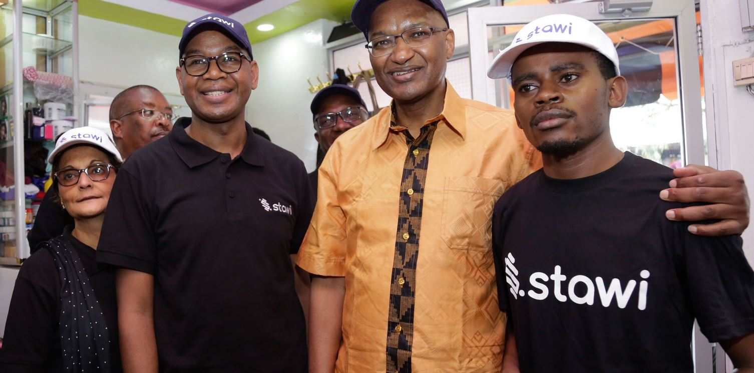 KCB Group CEO Joshua Oigara and CBK Governor Patrick Njoroge and during the Launch of Stawi Mobile Loan