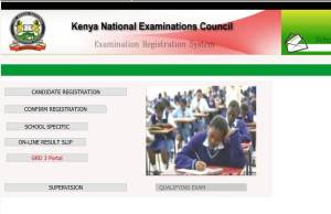 KNEC Portal Website links for access and Exam Registration Guide