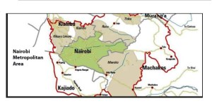 Nairobi Metropolitan Area, List of Counties, Regions, Towns that fall that territory are inside the red mark