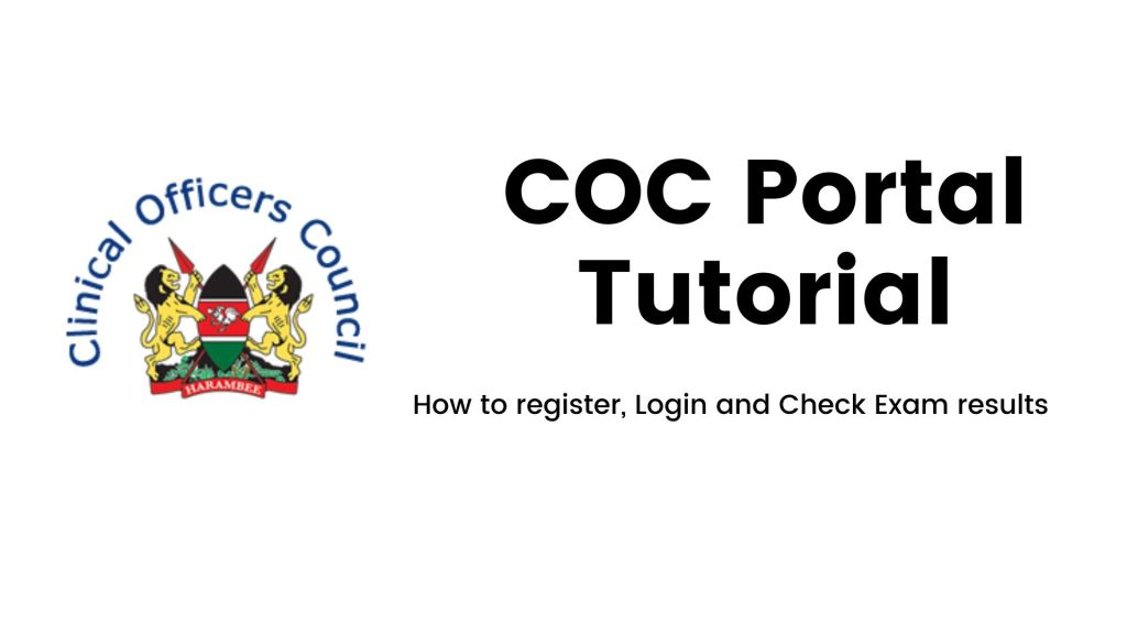 COC portal website Guide for Exam Registration, Results checking