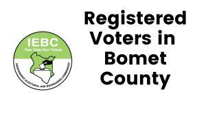 IEBC Bomet County Registered Voters