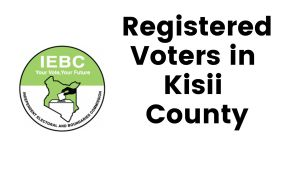 IEBC Kisii County Registered Voters